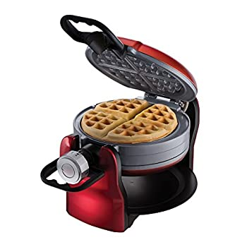 Oster DuraCeramic Titanium Infused Double Flip Waffle Maker, Red CKSTWF20R