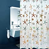 Product description1. Pattern: Starfish and Sea Shells2. Material: 100% PEVA3. Size: 72-inch by 80.4. Washing methods: a temperature below 30 ℃, hand or machine wash, hanging to dry5. Packing: Each PP bag, with a white hook 6. Role: bathroom shower c...