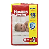 Health & Personal Care : HUGGIES Snug & Dry Diapers, Size 1, 44 Count (Packaging May Vary)