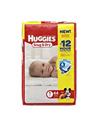 HUGGIES Snug & Dry Diapers, Size 1, 44 Count (Packaging May Vary) BOBEBE Online Baby Store From New York to Miami and Los Angeles