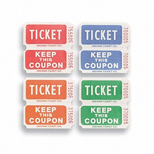 range and Green 50/50 Raffle Decorative Party Ticket Rolls (Christmas Raffle Tickets)