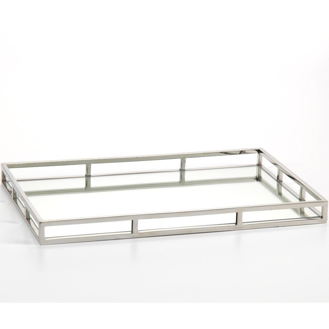 Mirrored tray for bathroom - Amazon Com Zodax 22 Inch Long Venturi Rectangular Mirrored Tray Home Kitchen