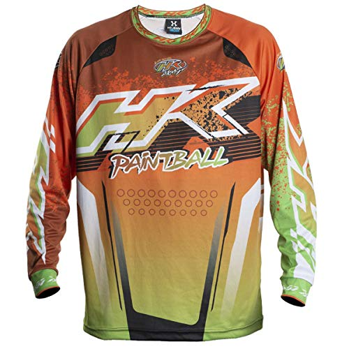 HK Army Retro Paintball Jersey - Liquid - Orange/Lime - Large