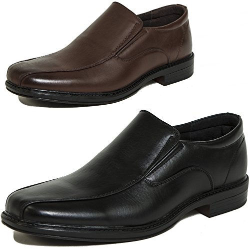 Alpine Swiss Men's Dress Shoes Leather Lined Slip on Loafers
