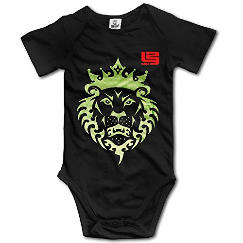 Black Baby's CLEVELAND CAVALIERS LeBron KING James 23# Logo Sleveless Romper Jumpsuit