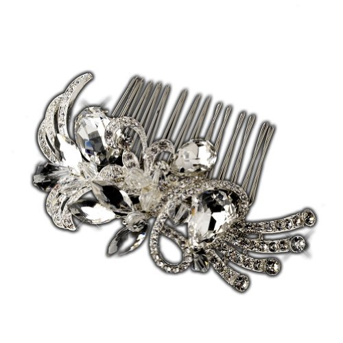 Maria Beautiful Crystal Vintage Inspired Wedding Bridal Hair Comb by Elegance by Carbonneau