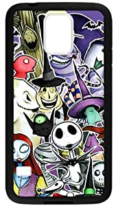 Funny Cartoon The Nightmare Before Christmas Case Cover for Samsung Galaxy S5, Laser Technology Material
