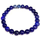 8mm Lapis Bracelet Stone Stacking Bracelet Gemstone Stretch Bracelet Blue Lapis Lazuli Jewelry Meditation Bracelet Yoga Jewelry