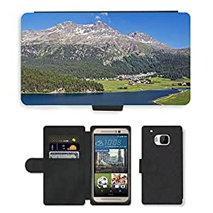Hot Style Cell Phone Card Slot PU Leather Wallet Case // M00169336 Hamlet Town Village Switzerland // HTC One M9