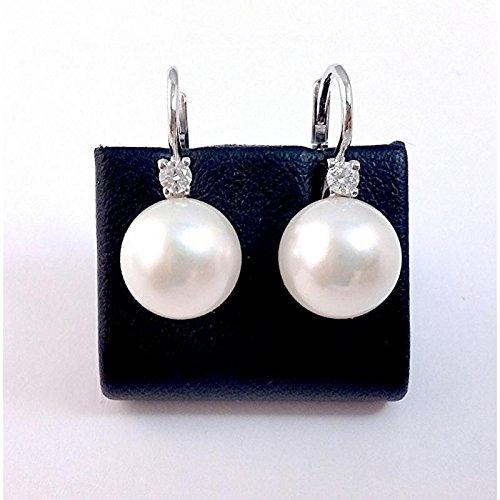 Boucles d'oreille Femme-ODP _ perle _ _ Brill fermoir or blanc perle