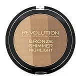 Revolution Shimmer, Radiant Light, I Love Makeup Highlighter Professional Makeup (Ultra Bronze)