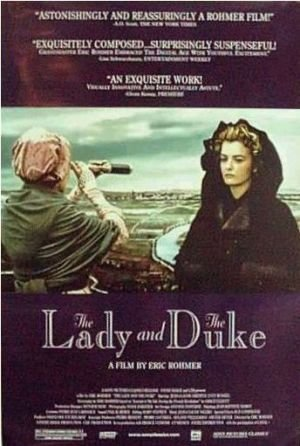 THE LADY AND THE DUKE - 27x40 Original Movie Poster One Sheet 2001 Rare Rolled Eric Rohmer