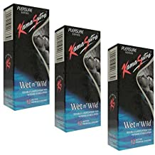 KamaSutra Wet N Wild Dotted Condom(Set of 3, 36S)