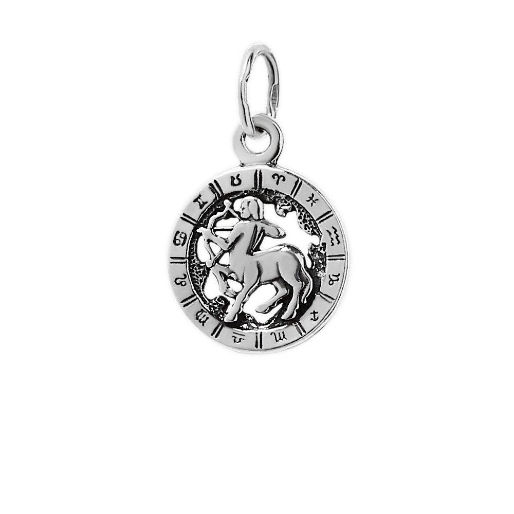 NKlaus 925er Sterlingsilber Ketten Anh/änger Horoskop Sternzeichen Sch/ütze 6325