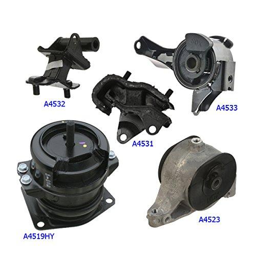- MaxBene Fits: 2006-2008 Honda Pilot 3.5L 4WD Engine Motor & Trans Mount Full Set 5PCS 9441, 9299, 9300, 9301, 9298