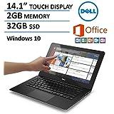 Dell Inspiron 14-inch Touchscreen Laptop (2016 New Premium Edition), 1-year Office 365 ($70 value, 1 TB Cloud Storage), Intel Dual-Core Processor, 2GB RAM, 32GB Flash Storage, Bluetooth, Webcam, HDMI, Windows 10