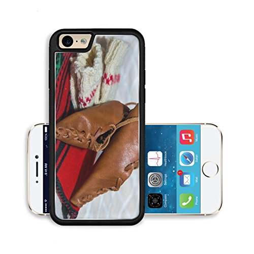Liili Premium Apple iPhone 6 iPhone 6S Aluminum Backplate Bumper Snap Case Romanian traditional costume with peasant s sandal (National Romanian Costume)