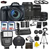 Canon EOS 7D Mark II 20.2MP Digital SLR with Canon EF-S 18-135mm f/3.5-5.6 IS STM + Tamron AF 70-300mm F/4-5.6 + Canon EF 50mm f/1.8 II + 2 Commander 32GB Memory Cards + Commander UV Filters