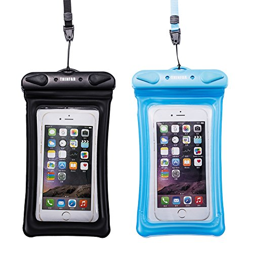 Cheap Waterproof Cases Universal Waterproof Cell Phone Case of 2 Pack Set,Floating Smartphone Pouch Dry..