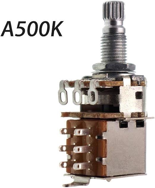 planuuik Perilla de Interruptor de Guitarra cromada A500K B500K ...