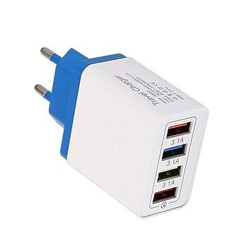cietact 4 Puertos USB Cargador de Pared Viajar Cargador Móvil ...