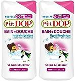 P'tit Dop - Bain + Douche Hypoallergénique Framboise-Cassis Maxi Format - 400 ml - Lot 2
