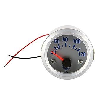 Medidor de Temperatura del Agua Universal para Coche 52mm LED Azul