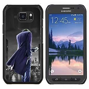 Qstar Arte & diseño plástico duro Fundas Cover Cubre Hard Case Cover para Samsung Galaxy S6Active Active G890A (Joker City)