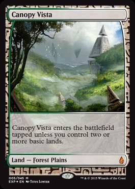 Magic: the Gathering - Canopy Vista - Expedition Lands - (Expedition Foil)