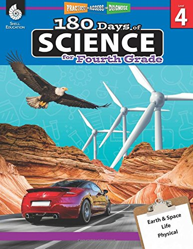 180 Days of Science for Fourth Grade - Daily Science Practice for 4th Grade - Interactive Science Workbook Skills for Kids Ages 8 to 10 (180 Days of Practice, Level 4)