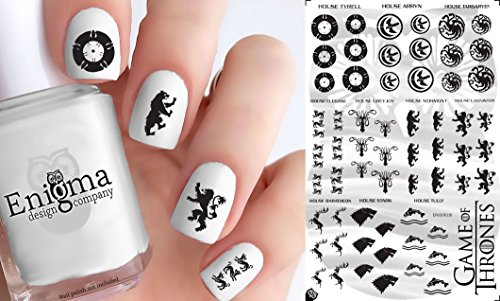 (Game of Thrones Accessories (Clear Water-Slide Nail Decals))