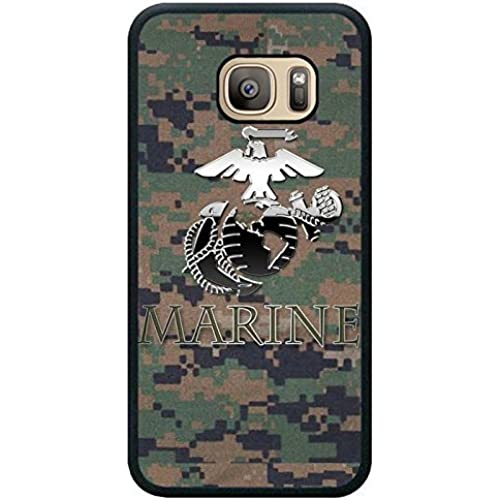 Us Marine Corp Black Shell Phone Case Fit For Samsung Galaxy S7,Newest Cover Sales