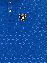 Automobili Lamborghini Mens Y Pattern Polo Shirt Xl Cobalt Blue