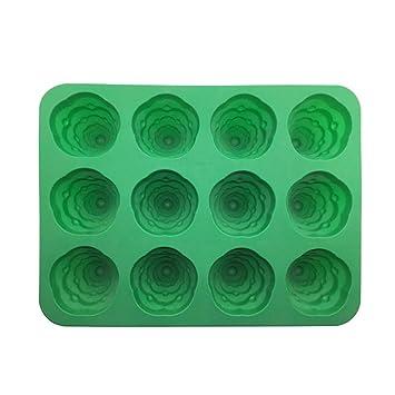 Molde para tartas, Hunpta, 1 pieza 3D, de silicona, árbol de Navidad, fondant, molde para pasteles, herramientas de bricolaje verde: Amazon.es: Hogar