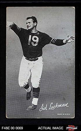Amazon.com  1948 Exhibits Black and White Sid Luckman (Football Card ... 8034b816d
