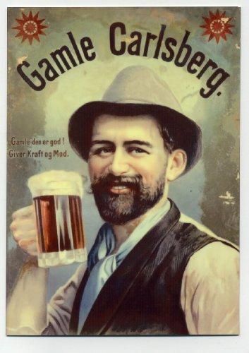 gamle-carlsberg-beer-european-counter-display-sign