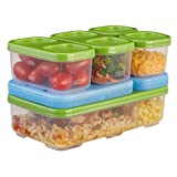 Rubbermaid LunchBlox Entree Kit, Food Storage Container, BPA-free Plastic, Guacamole, Green (1970353)