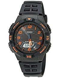 Casio Men's AQS800W-1B2VCF Slim Solar Multi-Function Analog Digital Watch