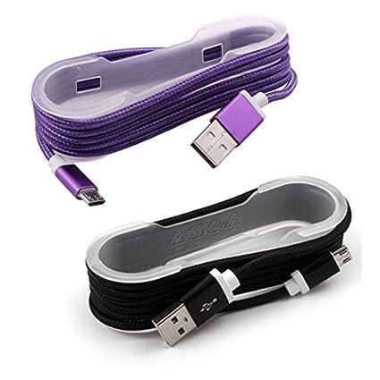 Amazon.com: eDealMax Nylon Celular trenzó USB 2.0 tipo A a ...