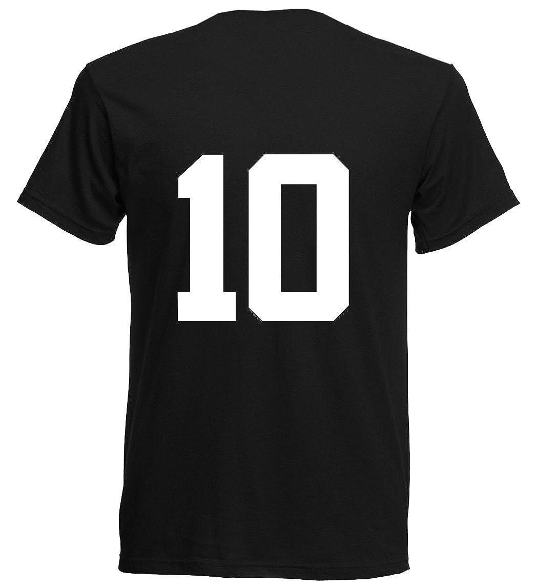 Tunesien WM 2018 T-Shirt Rot Trikot Fußball Nr ALL 10 Sport