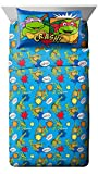 Nickelodeon Teenage Mutant Ninja Turtles Heroes Blue 3 Piece Twin Sheet Set (Official Product)