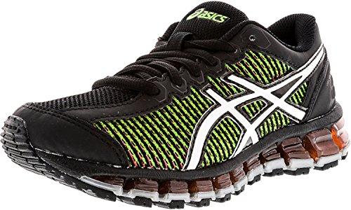 ASICS Gel-Quantum 360 cm GS Running Shoe (Little Kid/Big Kid), Black/White/Green Gecko, 1 M US Little Kid by ASICS
