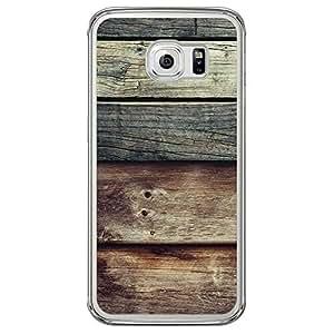Loud Universe Samsung Galaxy S6 Edge Madala Wood n Wood 12 Printed Transparent Edge Case - Multi Color