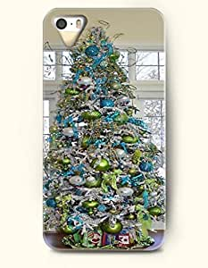SevenArc iPhone 5 5s Case - Merry Xmas Blue And Green Xmas Tree
