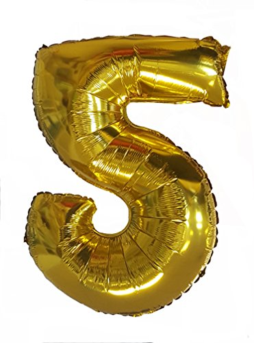 Babytree Numbers 0-9 Birthday/Party Balloons (5), 40