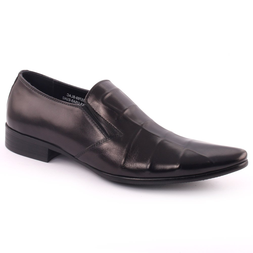 Unze Men Leather Slip On 'Cuba' Party Prom Office Wedding Convocation Formal Dress Loafer Boots UK Size 7-11 - A25-61R