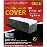 Adco Cover with Tyvek Top Panel Folding Trailer Cover Pop Up Trailer Cover Designed for Campers 12' to 14' (2 Year Warranty)