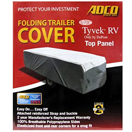 a92058947f Amazon.com: Adco Cover with Tyvek Top Panel Folding Trailer Cover Pop Up  Trailer Cover Designed for Campers Up to 8' (2 Year Warranty): Automotive