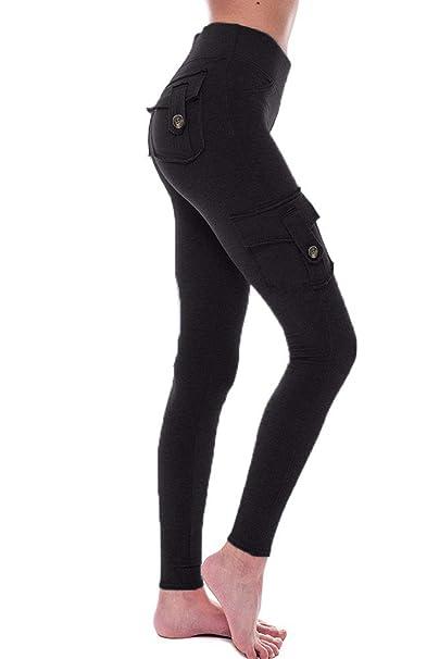 Amazon.com: HSRKB Pantalones cargo para mujer, pantalones de ...