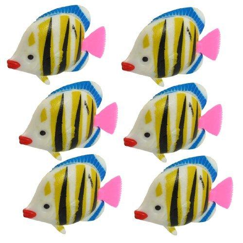 Amazon.com: eDealMax DE 6 piezas de acuario Peces Artificiales ...